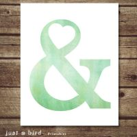 Ampersand wall art - Mint green Ampersand Poster - Modern ...
