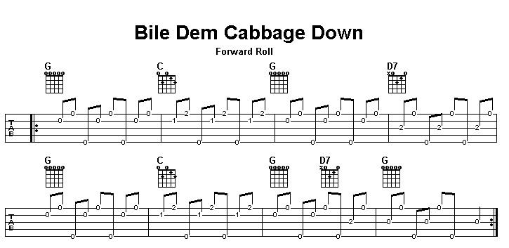 Bile Dem Cabbage Down (banjo forward roll practice