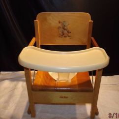 Vintage Wooden High Chair Anatomy Design And Construction Oak Hill Child's Potty With Tray   Chair, Trays