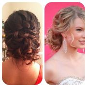 prom homecoming updo messy