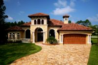 tuscan style one story homes