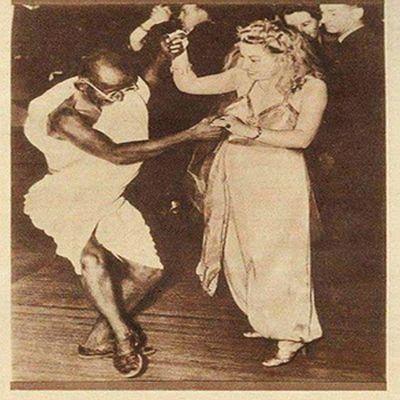 Mahatma Gandhi Dancing With Girl Is An Actor