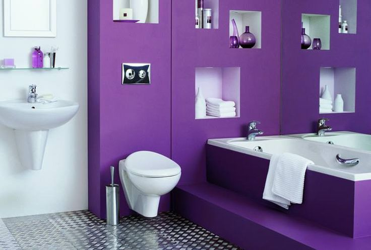 17 Best images about Salles de bain mauves on Pinterest  Colors Ceilings and Purple