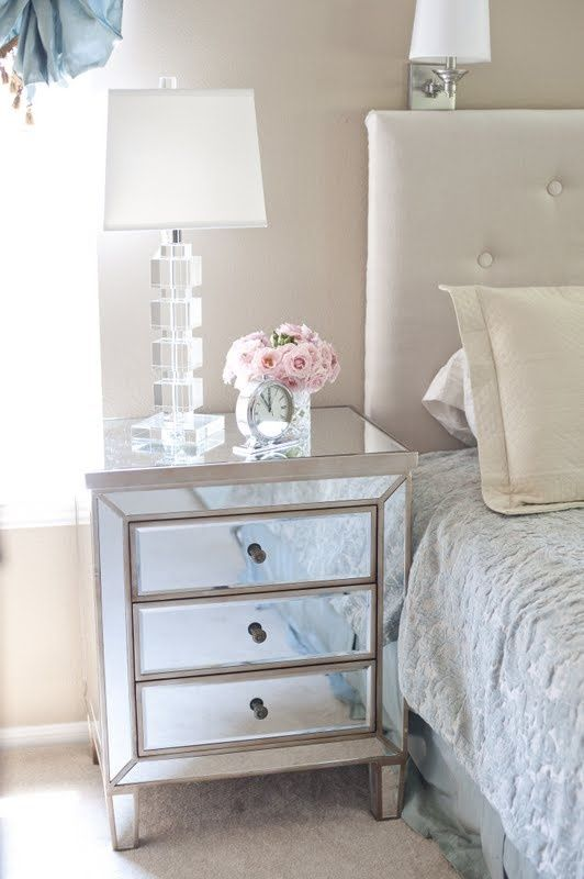 25 best ideas about Mirrored nightstand on Pinterest  Mirror furniture Mirrored furniture and