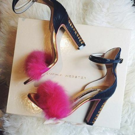 Fluffy, metallic and pink what's not to love about these Sophia Webster heels. See more of our party edits at Redonline.co.uk: