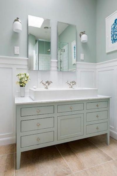 white wainscoting bathroom vanity Best 25+ Wainscoting in bathroom ideas on Pinterest | Wainscoting bathroom, Pedistal sink and