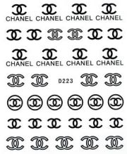 nails stickers chanel