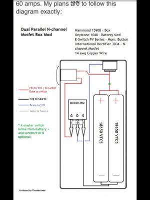 Dual Parallel MOSFET Box Mod Diagram | Vape and Ecig