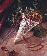 cornucopia of roses christmas ornament
