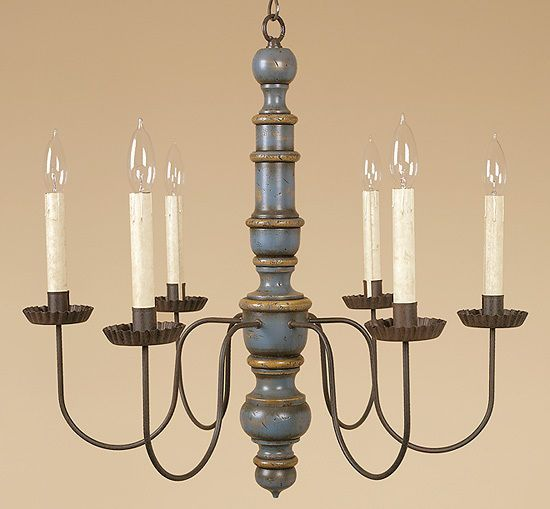 Austin Chandelier Colonial Wood Light Country