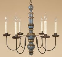 Austin Chandelier - Colonial Wood Light - Country ...