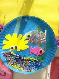 paper plate aquarium #summercamp | my crafts | Pinterest ...
