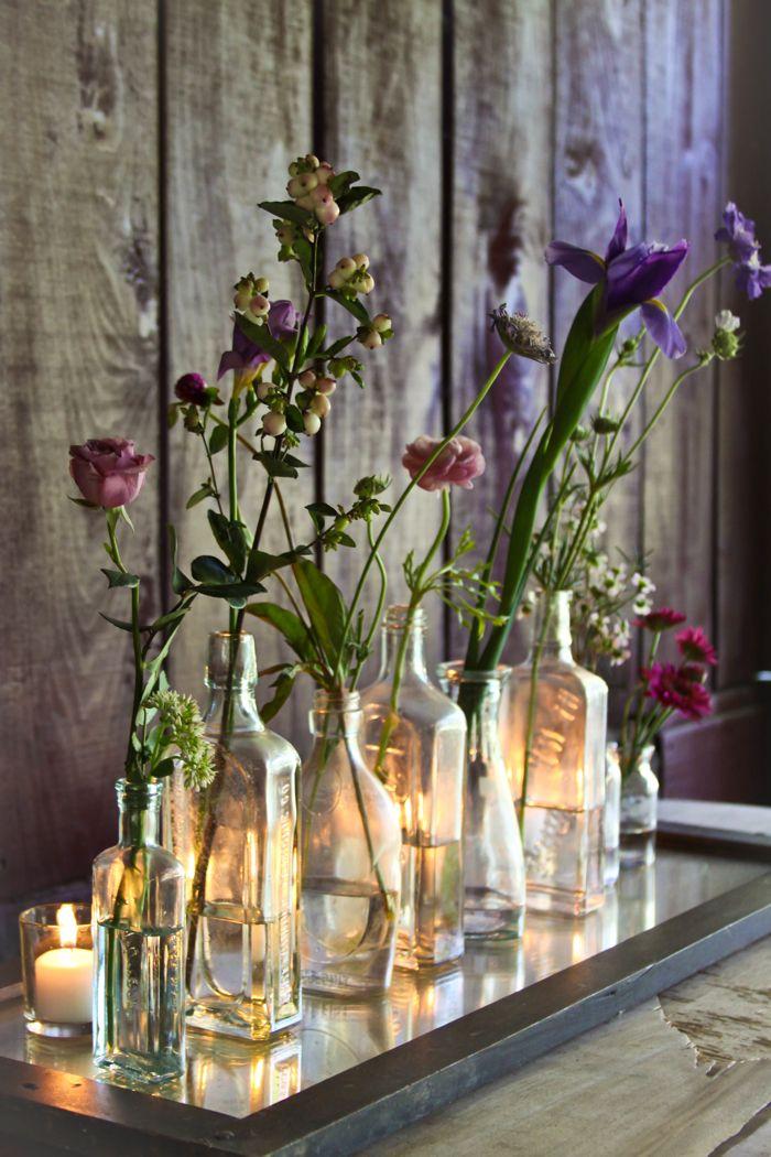 idées de déco fleurs dans des vases
