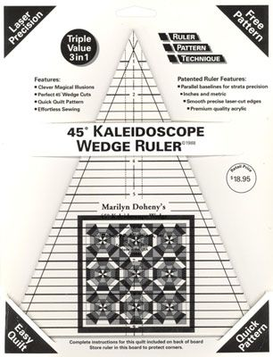 32 Best images about Wedge Ruler Quilts on Pinterest