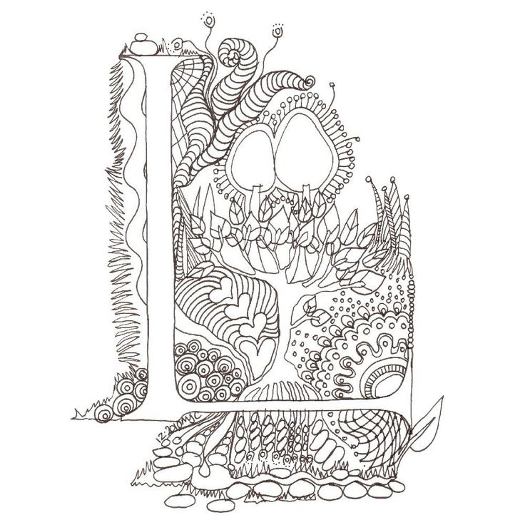Illuminated Letters Coloring Pages Sketch Coloring Page