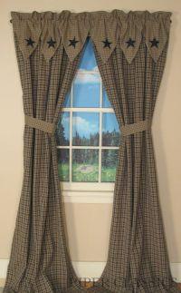 25+ best ideas about Primitive curtains on Pinterest ...