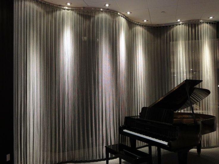 Metal Mesh Curtain With Lighting Metal Mesh Perforated Metal