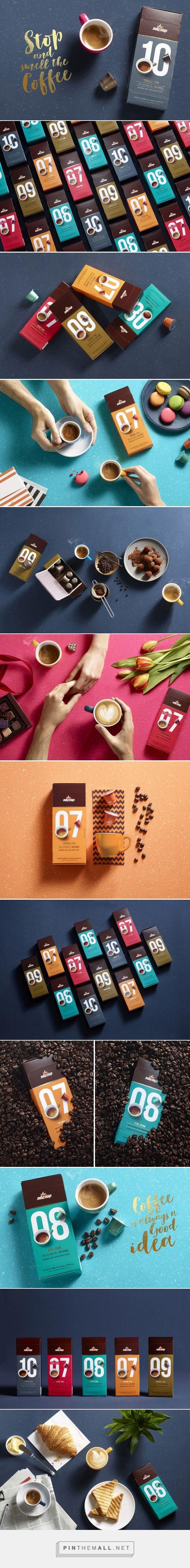 elite coffee capsules branding packaging