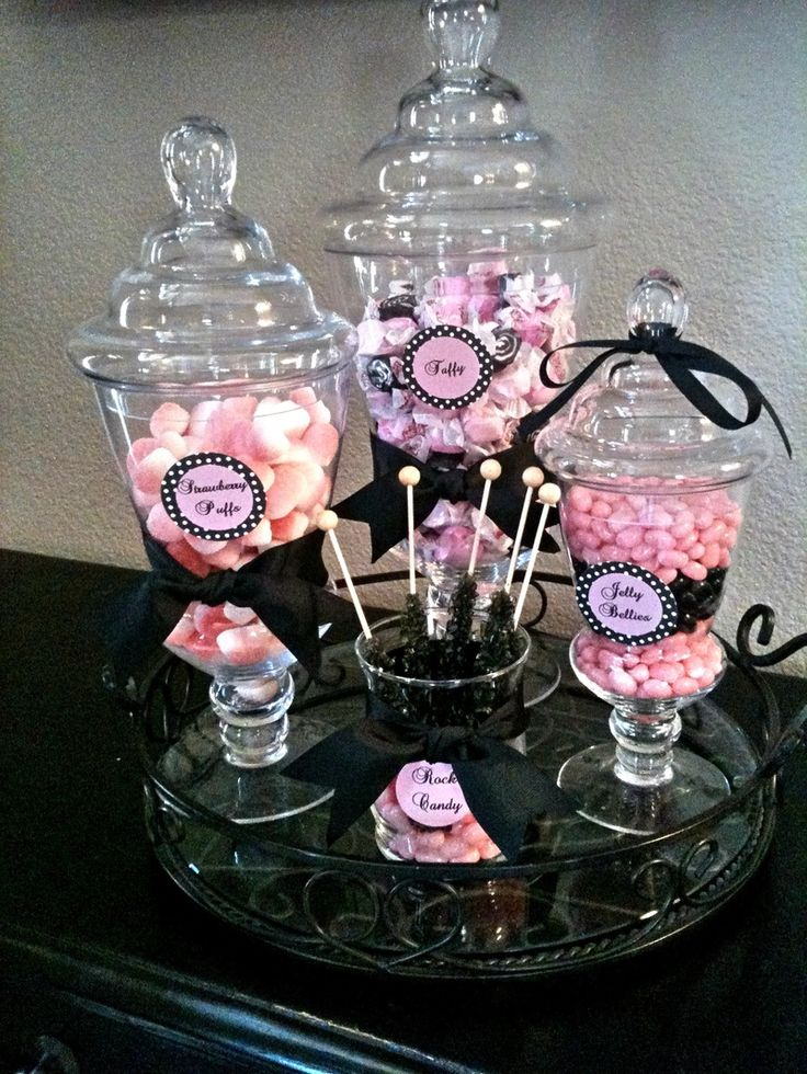 Pink And Black Candy Buffet Google Search Glitter Glam