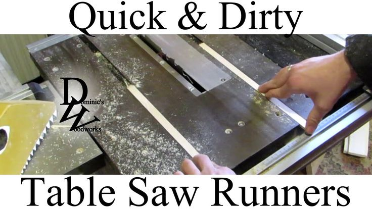 Table Saw Sled Runners  Woodworking Projects & Plans