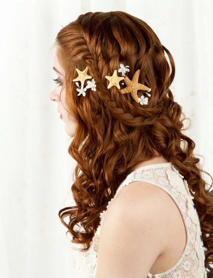 Starfish Hair Accessories Starfish Hair Clip Seashell