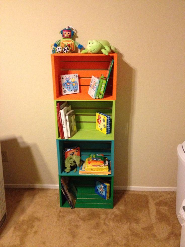 Diy Crate Book Shelf Cute If It Were White Which