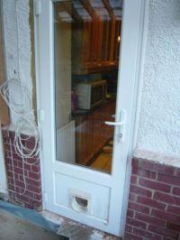 UPVC Double Glazed back door with cat-flap   eBay   New ...