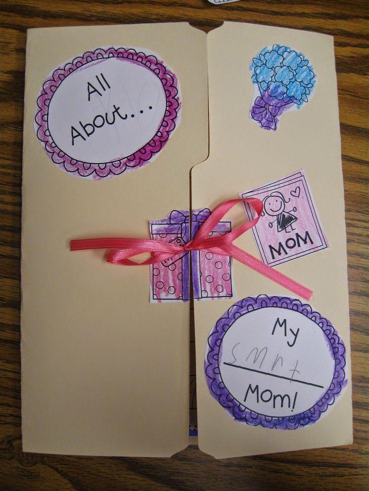 Crayons & Cuties In Kindergarten Mother's Day Lapbook