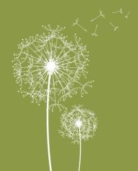 Modern Wall Decor Prints, Dandelions, Modern Flowers and ...