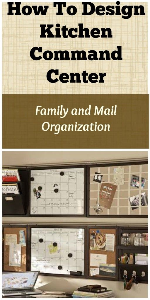 How To Design Kitchen Command Center Family and Mail