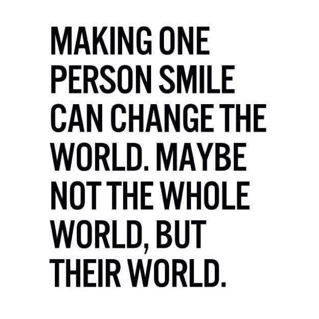 Make someone smile today :) #smile #QOTD #quote #happy