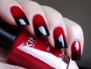 vampy gradient - red black ombre