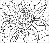 33 best images about color by numbers coloring pages on ...