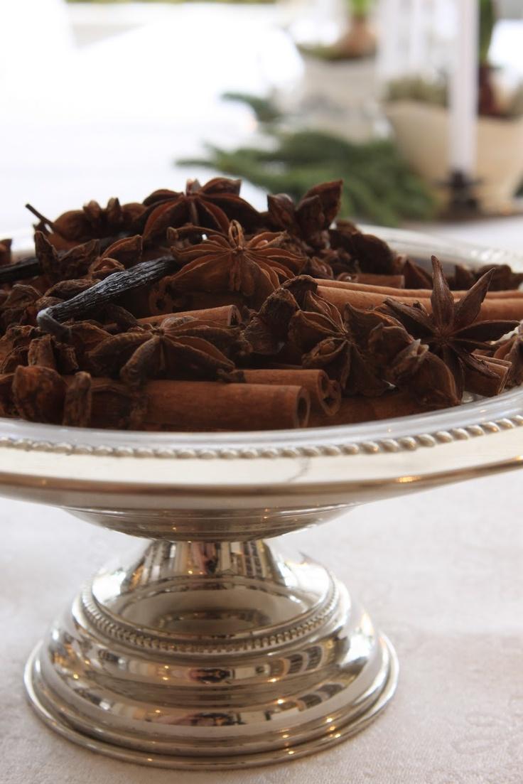 Cinnamon anise cloves and vanilla sticks Always