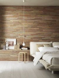 reclaimed wood slat wall | Room by room: Bedroom ...