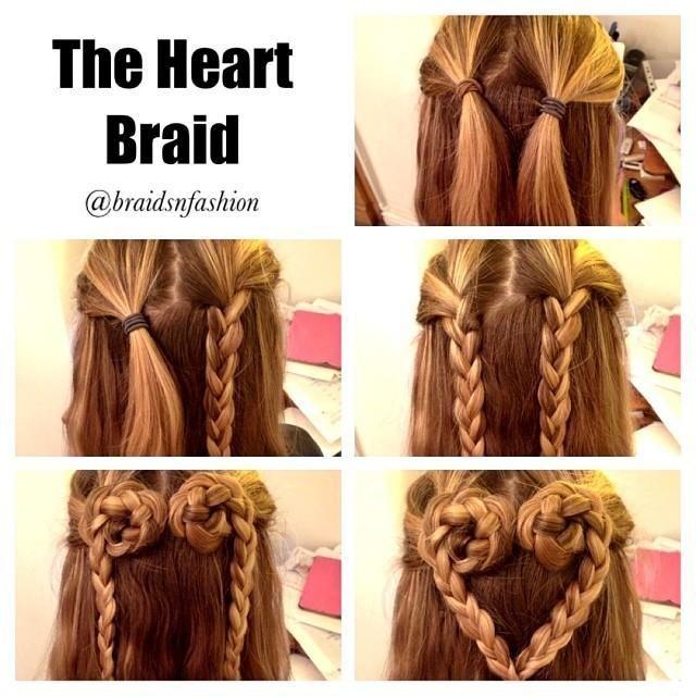 25 Best Ideas About Heart Braid On Pinterest Heart Hair Hair
