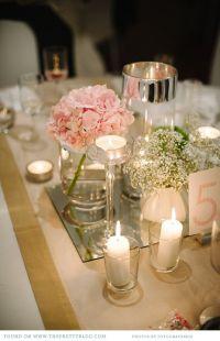 17 Best ideas about Mirror Wedding Centerpieces on