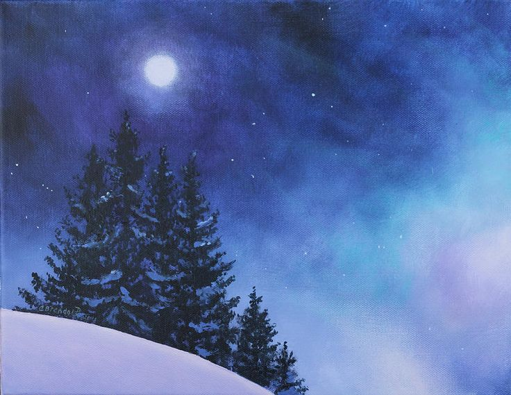 25+ Best Ideas About Winter Painting On Pinterest