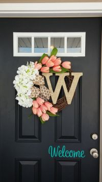 Best 25+ Front door decor ideas on Pinterest | Letter door ...