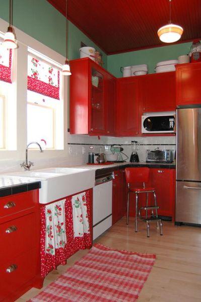 red and white vintage kitchen 25+ best ideas about Vintage Kitchen on Pinterest | Studio