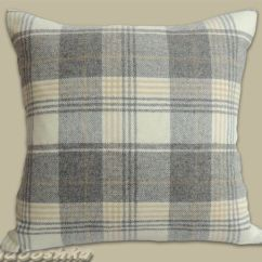 Modern Grey Dining Chairs Uk Childrens Table And Chair Set Luxurious Soft Tweed Cushion Cover Tartan Style. Plaid Throw Pillow Cover. 18