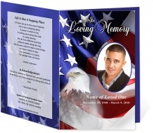Patriotic Or Military Funeral Programs Freedom Single Fold Memorial Service Program Creative