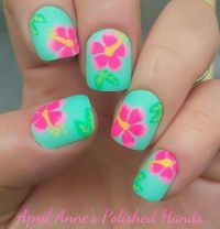 25+ best ideas about Tropical nail designs on Pinterest