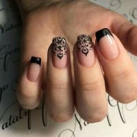 25+ best ideas about Black french manicure on Pinterest ...
