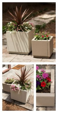 DIY concrete planters using pavers. Simple and inexpensive ...