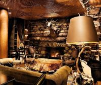 lodge-decorating-ideas-fireplace-living-room | My Style ...