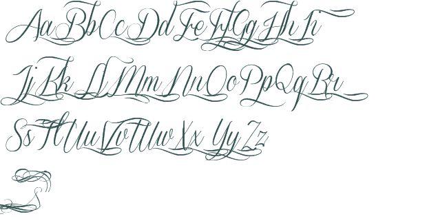Script Font Tattoo Letters Free Cursive Fonts
