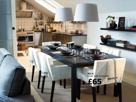 ikea dining room  like the shelvingstyling  My Modern