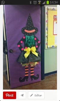 Decoracin puerta Halloween | Halloween | Pinterest ...