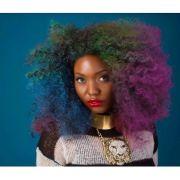 colorful afro rainbow purple